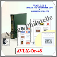 ALBUM AV FRANCE Préimprimé - Volume 1 - LUXE - 1849 à 1948 (AVLX-OR-48)