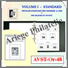 ALBUM AV FRANCE Préimprimé - Volume 1 - STANDARD - 1849 à 1948 (AVST-OR-48) Av-Editions