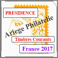 FRANCE 2017 - Jeu PRESIDENCE - Timbres Courants (PF17)