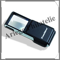 LOUPE de POCHE SLIDE - 1 LED - Grossissement x3 - SLIDE (346518 ou LUSLIDE)