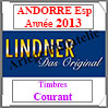 ANDORRE Espagnole 2013 - Timbres Courants (T123-2013) Lindner