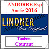 ANDORRE Espagnole 2016 - Timbres Courants (T123/16-2016) Lindner
