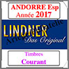 ANDORRE Espagnole 2017 - Timbres Courants (T123/16-2017) Lindner