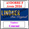 ANDORRE Française 2016 - Timbres Courants (T124a/08-2016) Lindner