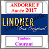 ANDORRE Française 2017 - Timbres Courants (T124a/08-2017) Lindner