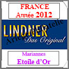 FRANCE 2012 - Pages 'Marianne Etoile d'Or' (T132/12-2012M) Lindner