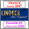 FRANCE 2017 - Jeu Complet + Ensemble 1124 (T132/17ES) Lindner