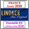 FRANCE 2018 - Jeu Complet + Ensemble 1124 (T132/18ES) Lindner