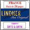 FRANCE - Pack 1972 à 1976 - Timbres Courants (T132a) Lindner