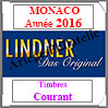 MONACO 2016 - Timbres Courants (T186/09-2016) Lindner