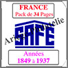FRANCE - Pack 1849 à 1937 - Timbres Courants (2034) Safe
