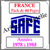 FRANCE - Pack 1978 à 1985 - Timbres Courants (2137-1) Safe