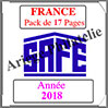 FRANCE - Pack 2018 - Timbres Courants (213710) Safe
