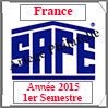 FRANCE 2015 - Jeu Timbres Courants - 1 er Semestre (2137/151) Safe