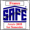 FRANCE 2018 - Jeu Timbres Courants - 1 er Semestre (2137/181) Safe