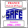 FRANCE - Pack 1986 à 1993 - Timbres Courants (2137-2) Safe