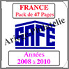 FRANCE - Pack 2008 à 2010 - Timbres Courants (2137-6) Safe