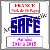 FRANCE - Pack 2014 à 2015 - Timbres Courants (2137-8) Safe