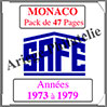 MONACO - Pack 1973 à 1979 - Timbres Courants (2208-1) Safe