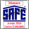 MONACO 2016 - Jeu Timbres Courants (2208-16) Safe