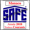 MONACO 2018 - Jeu Timbres Courants (2208-18) Safe