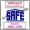 MONACO - Pack 1986 à 1993 - Timbres Courants (2208-3) Safe