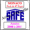 MONACO - Pack 2008 à 2016 - Timbres Courants (2208-6) Safe