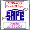 MONACO - Pack 2017 - Timbres Courants (2208-7) Safe
