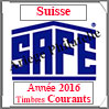 SUISSE 2016 - Jeu Timbres Courants (2366-16) Safe