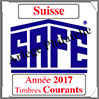 SUISSE 2017 - Jeu Timbres Courants (2366-17) Safe