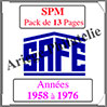 SAINT-PIERRE et MIQUELON - Pack 1958 à 1976 - Timbres Courants (2479) Safe