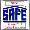 SAINT-PIERRE et MIQUELON 2011 - Jeu Timbres Courants (2480-11) Safe