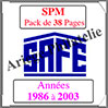 SAINT-PIERRE et MIQUELON - Pack 1986 à 2003 - Timbres Courants (2480) Safe
