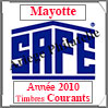 MAYOTTE 2010 - Jeu Timbres Courants (2487-10) Safe
