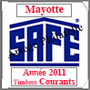 MAYOTTE 2011 - Jeu Timbres Courants (2487-11) Safe