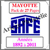 MAYOTTE - Pack 1892 à 2011 - Timbres Courants (2487) Safe