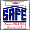 FRANCE 2015 - Jeu Blocs CNEP 2014 et 2015 (2628/15) Safe