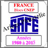 FRANCE - Pack 1980 à 2015 - Blocs CNEP (2630) Safe