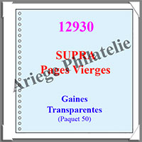 Pages Régent SUPRA - GAINES Transparentes - Paquet de 10 Pages (12930)