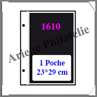 Pages FUTURA Plastique Transparent - E1 - 1 Poche : 230x290 mm - Paquet de 5 Pages (1610)