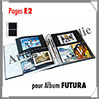 Pages FUTURA Plastique Transparent - E2 - 2 Poches : 145x230 mm - Paquet de 5 Pages (1620) Yvert et Tellier