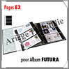 Pages FUTURA Plastique Transparent - E3 - 3 Bandes : 90x230 mm - Paquet de 5 Pages (1630) Yvert et Tellier