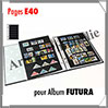 Pages FUTURA Plastique Transparent - E40 - 6 Bandes : 40x230 mm - Paquet de 5 Pages (1631) Yvert et Tellier