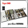 Pages FUTURA Plastique Transparent - C40 - 4 Poches : 113x145 mm - Paquet de 5 Pages (1640) Yvert et Tellier
