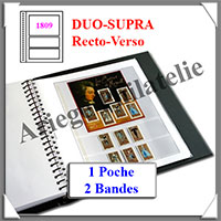 Pages Régent Duo-SUPRA Recto Verso - 1 Poche et 2 Bandes - Paquet de 10 Pages (1809)