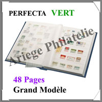 PERFECTA - 48 Pages BLANCHES - VERT - Grand Modèle (240515)