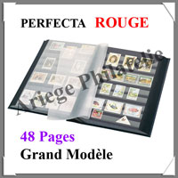 PERFECTA - 48 Pages NOIRES - ROUGE - Grand Modèle (240522)