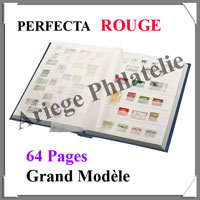 PERFECTA - 64 Pages BLANCHES - ROUGE - Grand Modèle (240612)